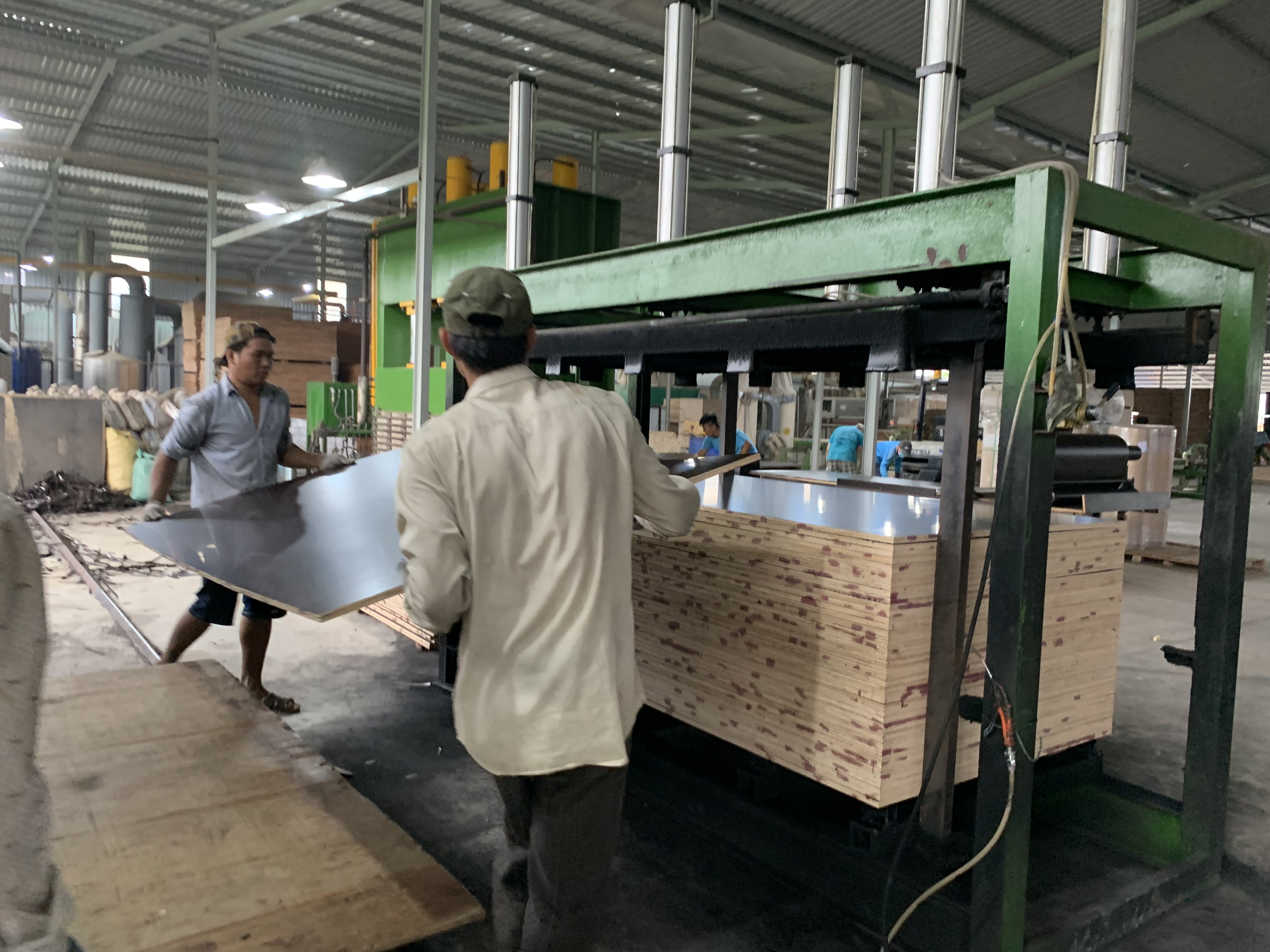 Sản xuất ván ép phủ keo tại công ty TNHH SOMMA