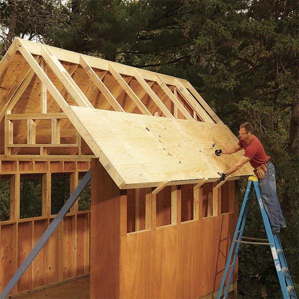 Ván ép làm trần nhà