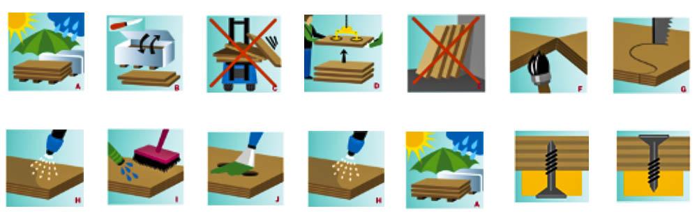 Hướng dẫn sử dụng và bảo quản ván ép phủ phim