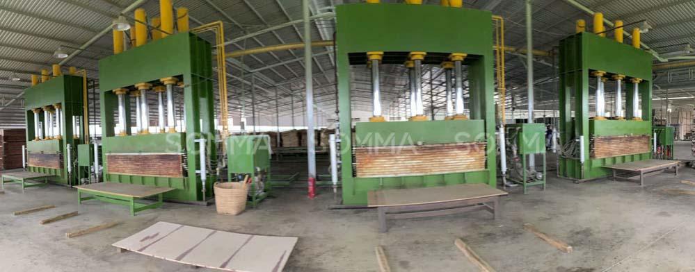 nhà máy sản xuất ván ép phủ phim
